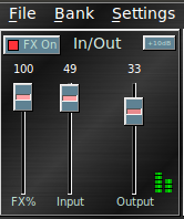 rakarrack's main volume control